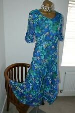 ~ CHESCA ~ Stunning Blue Balloon Hem Dress Size 3 UK 20 -22 Mother of the Bride