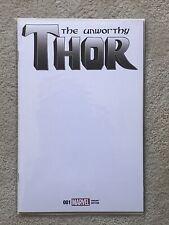 The Unworthy Thor #1 Blank Variant