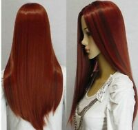 Vogue LADY long red mixed straight women's FULL wig/wigs