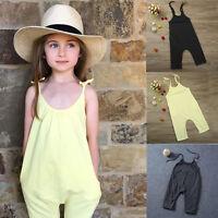 Toddler Kids Baby Girl Summer Strap Romper Jumpsuit Harem Pants Trousers Clothes