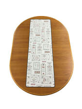 Table Runner Cafe Chez Georges Paris Grey Made In France