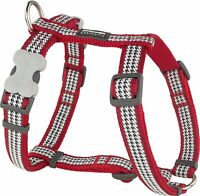 Red Dingo Dogtooth Design Harness RED for Dog / Puppy | XS - LG | FREE P&P