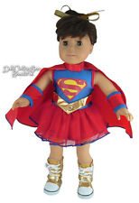 "Super Girl Halloween Costume fits 18"" American Girl Doll Clothes"