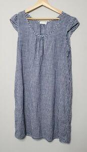 CP Shades Womens Dress Size Medium Blue White Gingham
