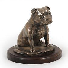 Staffordshire Bullterrier, Holz Statuette, Bronze, ArtDog, CH