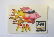 ADESIVO MOTO originale / Old Sticker CASCHI HELMETS FM (cm 10,5 x 7,5) MAIALE