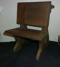 "Solid, Sturdy, Heavy Weight, Vintage Wood Doll/Bear 12"" Bench/Chair/Desk Nice"
