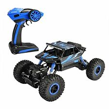 Hapinic Rc Car With Two Battery 4Wd 2.4Ghz 1/18 Crawlers Off Road Vehicle Toy