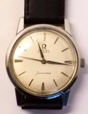 1960 Omega Seamaster Cal 591 20J Stainless Steel Automatic Watch Silver Dial