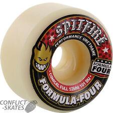 "SPITFIRE ""Formula Four"" Conical Full Skateboard Wheels 101a 52mm Street Park F4"