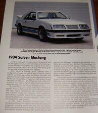 ★★1984 SALEEN MUSTANG SPECS INFO PHOTO 84 GT 5.0 302 83★★