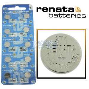 371 Renata Watch Battery SR920SW Swiss Made 0% Mercury Official Distributor