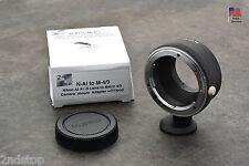 Nikon Ai Lens Micro 4/3 Camera Mount Adapter Tripod Olympus E-P1 Panasonic (#650