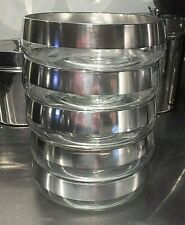 "DOROTHY THORPE Set of Five (5) Sterling SILVER BAND 5.25"" Individual Salad Bowls"