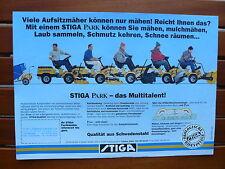 STIGA PARK Aufsitzmäher - Prospekt Brochure 04.1991 (0574