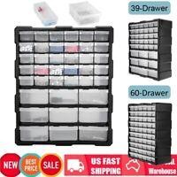 39/60 Drawer Organizer Plastic Part Storage Hardware Craft Cabinet Box Container