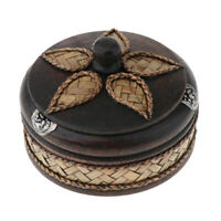 Real Wooden Small Thailand Style Ashtray with Lid for Cigar Art Home Decor