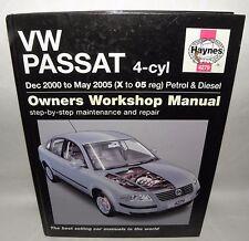 HAYNES MANUAL- VW Passat 4 Cyl, 2000- 2005 May, (X to 05 Reg) Petrol & Diesel HB