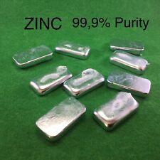 Pure Zinc Ingots Purity Zn 99.9% Anode Metal 500gr