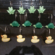 shower curtain hooks choice of theme dog spring sun duck read carefully - H