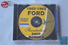 1962-63 Ford Thunderbird Shop Repair Manuals CD Rom Disc PDF New