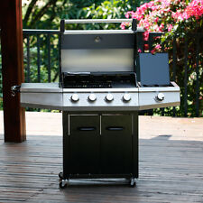 5 bruciatori Giardino griglia 52.000 BTU Barbecue BBQ a gas acciaio Master Cook