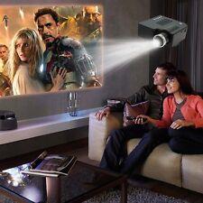 Black Home Cinema Theater Portable Mini LED LCD Projector 1080P HD HDMI AV USB