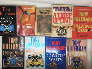 9 x Tony Hillerman Leaphorn and Chee Navajo Mysteries Job Lot HB