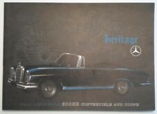 MERCEDES BENZ 300SE CONVERTIBLE & COUPE orig 1962 1963 USA Mkt Sales Brochure