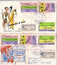 Stamps Australia 1971 Orientals 28th International Congress 2 covers registered