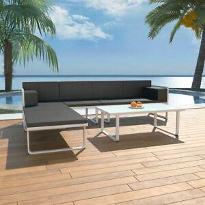 vidaXL Gartenmöbel 13-tlg. Aluminium Lounge Sitzgruppe Sofagarnitur Gartensofa