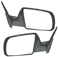 07 08 09 10 11 12 13 Tundra Sequoia Left&Right Black Power Side View Mirror Pair