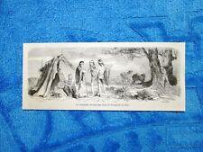 Gravure Année 1861 - La demande en mariage (Patagonie) - Proposta di matrimonio