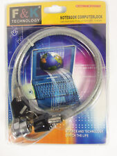F & K Technology Notebook Computer Cable  Key Lock Brand New!