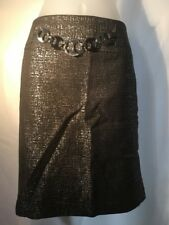 Adrienne Vittadini Silver and black skirt size 8 with pockets