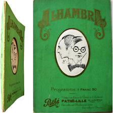 Programme Alhambra Music-hall théâtre 1927 ça c'est Lille André Hornez Manaut