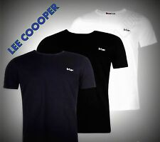 Mens Designer Lee Cooper Basic Casual Short Sleeves Essential TShirt Top S-XXL