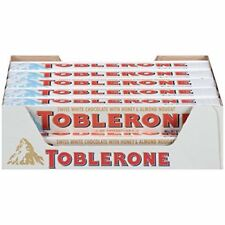 Toblerone White Chocolate with Honey and Almond Nougat, 3.52oz (Pack of 20)