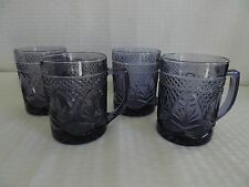 CRIS D'ARQUES LUMINARC DURAND ANTIQUE AMETHYST PURPLE MUGS (4)