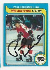 Paul Holmgren Philadelphia Flyers Autographed 79/80 Topps Hockey Card