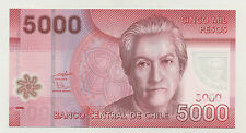Chile 5000 Pesos 2009 Pick 163.a UNC Uncirculated Banknote Polymer