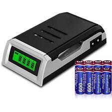 Cargador batería inteligente LCD para AA / AAA NI-MH NI-CD baterías recargables