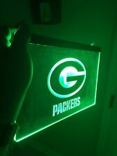Green Bay Packers LED Neon Sign for Game Room,Office,Bar,Man Cave. NEW!