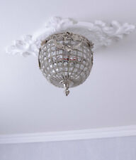 Hängeleuchte Antik Deckenlampe Kristalle Korblüster Lüster Barock Kronleuchter