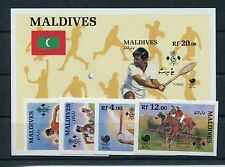 Malediven 1307/10 Block 144 postfrisch ungezähnt / Olympiade .............1/1192