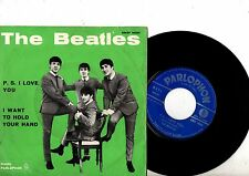 BEATLES 7'' PS P.S I Love You Italy QMSP 16351 VERY RARE NICE COVER Parlophon 45