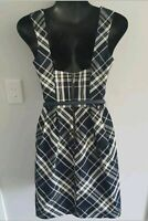 CUE 6 check tartan dress. (lining is stress torn but outside dress is perfect)