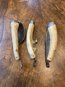 RARE ANTIQUE CIVIL WAR ERA FOLDING KNIFE FORK SPOON BONE CHARLESTON FIND