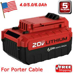 6.0Ah Lithium-Ion 20 Volt Battery for PORTER CABLE 20V Max PCC685L PCC680L Tools