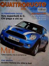 Quattroruote 613 2006 Nuova Mini. Svelata la Fiat Bravo. Prova BMW 535D [Q68]